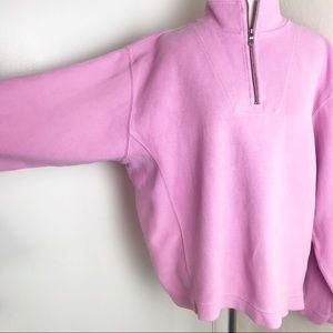 Tommy Bahama 1/4 Zip Cotton Mock Neck Sweater